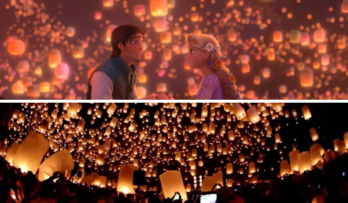 Tangled movie thailand lantern festival