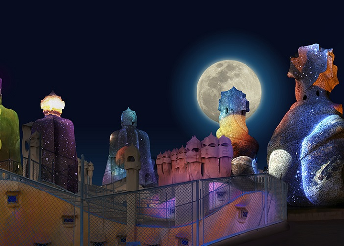 Casa Milà (La Pedrera) at night