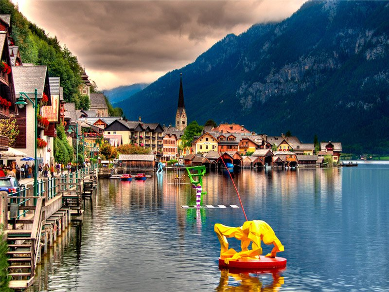 Fairy tale villages - Hallstatt, Austria