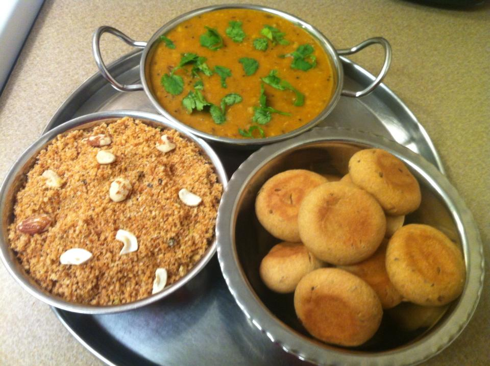 Must try foods in India - Daal Baati Churma